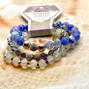 Erimish Stretchy Starter Stack Bracelets